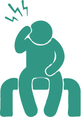 Icon of person sitting with pain